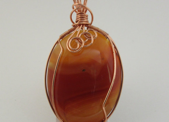 Carnelian wrapped in Copper - 2