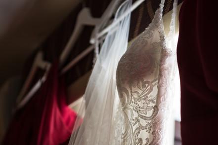 Birmingham Wedding Photographer, bride & bridesmaids dresses at Westmead hotel Birmingham