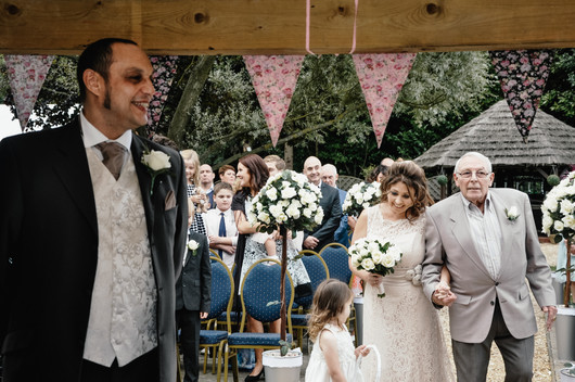 The Limes Solihull Wedding Photographer, second time round wedding Solihull, Wedding Photographer Birmingham, bride walking down the aisle with her dad