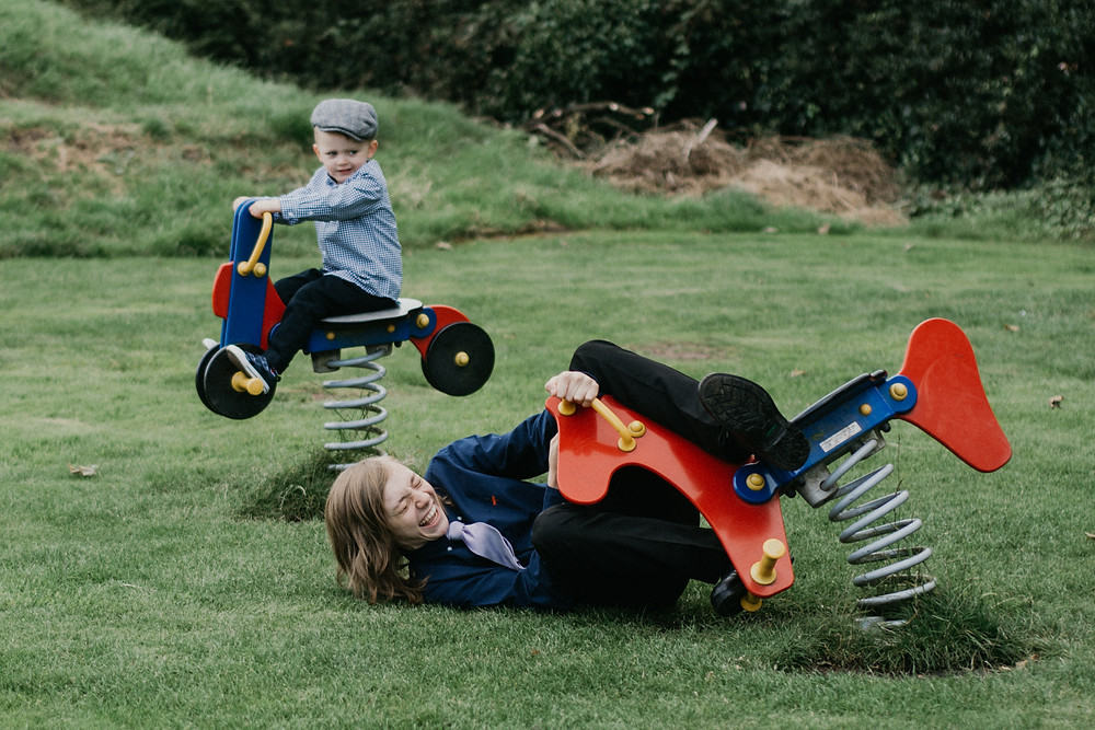 Wedding Photographer Solihull, Birmingham, kids on a playground having fun