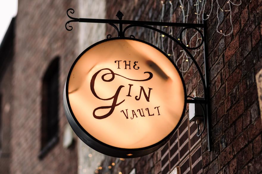 The Gin Vault Birmingham, The sign of the pub, Birmingham Photographer