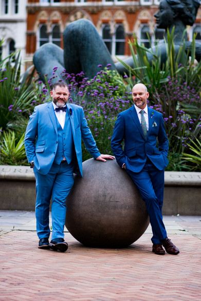 Same sex Wedding Photographer Birmingham, the grooms photograph by the floozy in the Jacuzzi in B'ham city centre