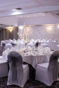 Wedding Photography Birmingham, photograph of the wedding breakfast table at the Westmead Birmingham