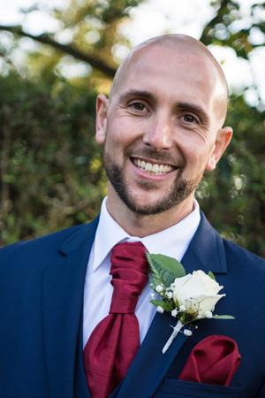 Photographer birmingham, close up portrait of the groom at the Westmead hotel Birmingham