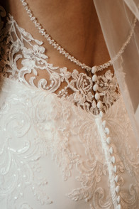 Wedding Photography Solihull, close up shot of the back of the brides wedding dress at westmead hotel Birmingham