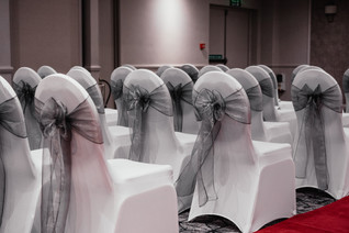 Wedding Photography Birmingham, the wedding ceremony room at the Westmead hotel Birmingham , the wedding chairs