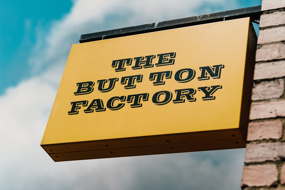The Button Factory Photographer, the sign for this trendy pub in the jewellery quarter