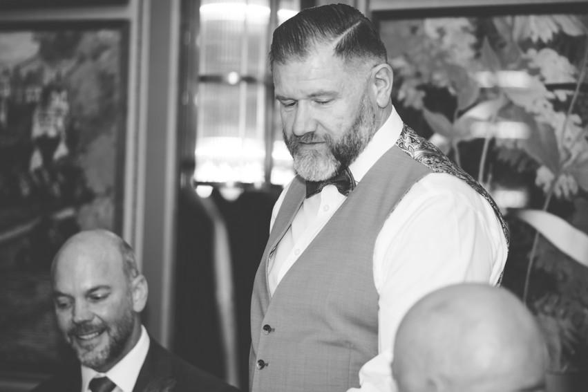 The Ivy Birmingham, Civil  Wedding Photographer Birmingham, groom doing at speech on his wedding day