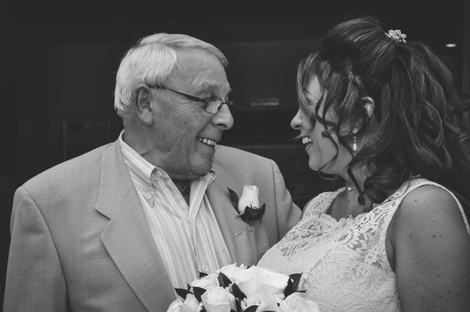The Limes Solihull Wedding Photographer, Wedding Photographer Birmingham, the bride & her father looking at each other, fun, relaxed image