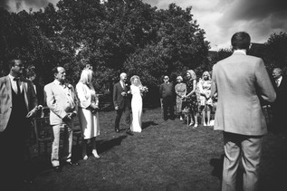 Photographer Wedding Birmingham, bride walking down the aisle with her dad, outdoor wedding at the lord leycester Warwick