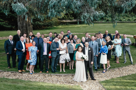The Limes Wedding Photographer Solihull, Wedding Photographer Birmingham, group photograph with the bride & groom & their guests