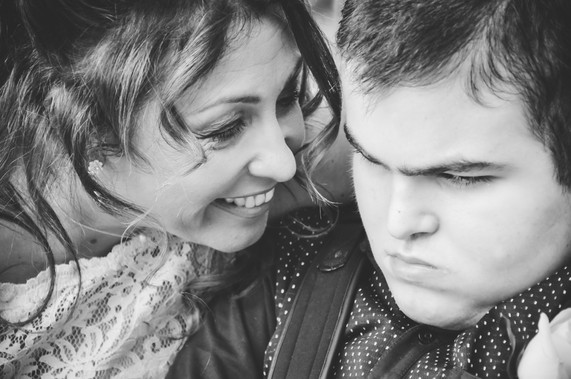 The Limes Wedding Photographer Solihull, Wedding Photographer Birmingham, close up photograph of a bride with her son, black & white image