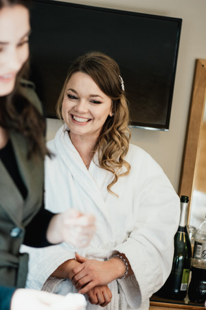 Wedding Photography Birmingham, bridesmaid laughing during the preparations photographs at the Westmead hotel Birmingham