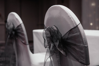 Wedding Photography Birmingham, the wedding ceremony room at the Westmead hotel Birmingham , close up of the wedding chairs