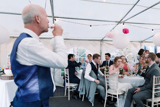 solihull wedding photography,, the father of the brides speech, toast photograph at the elephant & castle warwick