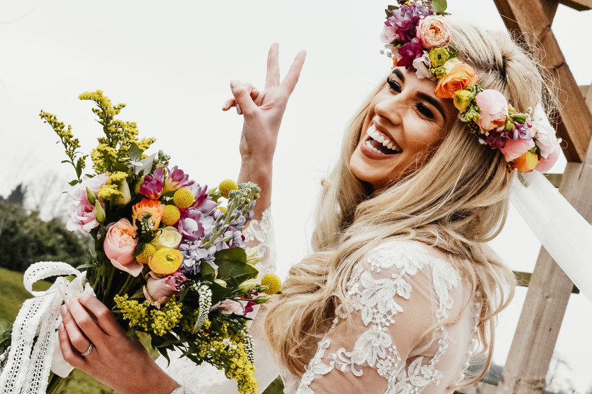 Wedding Photographer Birmingham, boho bride at Wootton Park Warwickshire