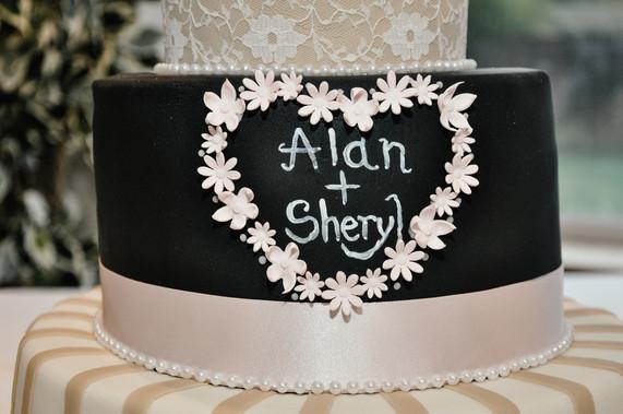 The Limes Wedding Photographer Solihull, Wedding Photographer Birmingham, close up of the wedding cake