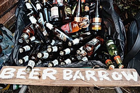 Wedding Photographer Birmingham, beer barrow fun garden wedding ideas