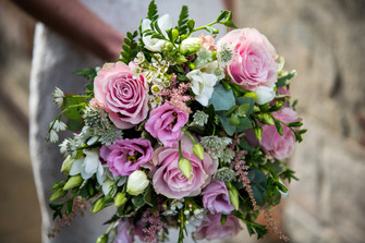 Wedding Photography Birmingham UK, close up of the brides bouquet at the lord leycester Warwick