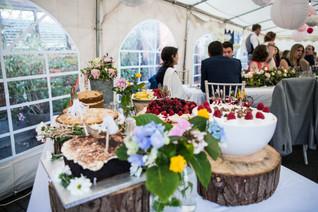 Wedding Photography Birmingham UK, wedding cakes at a wedding reception at the elephant & castle rowington