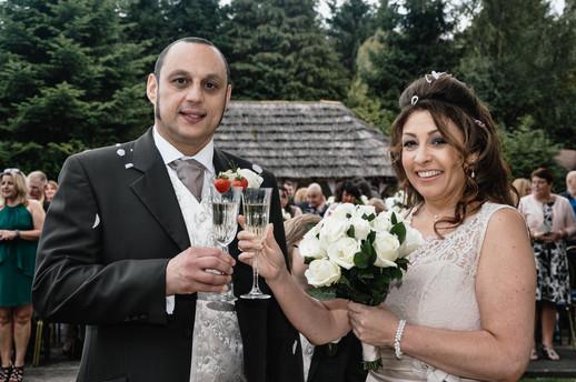 The Limes Wedding Photographer Solihull, Wedding Photographer Birmingham, the bride & groom making a toast
