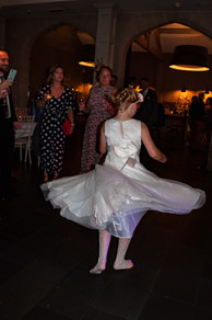 Hampton Manor West Midlands Wedding Photographer, little girl dancing at a wedding, dress swinging round
