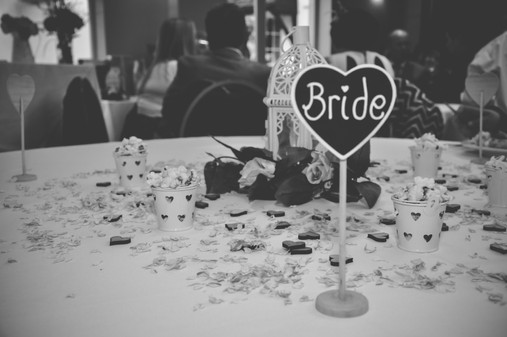 The Limes Wedding Photographer Solihull, Wedding Photographer Birmingham, image of the bride place name for the table in the shape of a heart, black & white image
