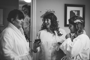 wedding photographer Solihull, mother of the bride & bridesmaids during the preparations at a wedding at the Westmead hotel Birmingham