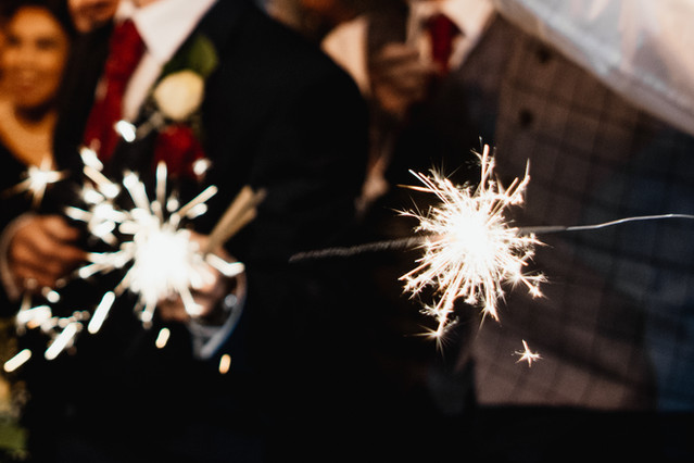Wedding Photographer Birmingham, sparklers at a wedding at Westmead hotel Birmingham