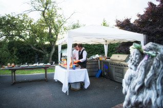 Wedding Photography Birmingham UK, the caters at a wedding reception in Warwickshire the elephant & castle