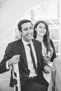solihull wedding photography, guest laughing at wedding reception at elephant & castle rowington