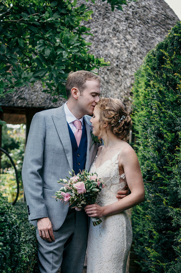 Photographer wedding Birmingham, wedding couples portrait at the lord leycester hospital Warwick