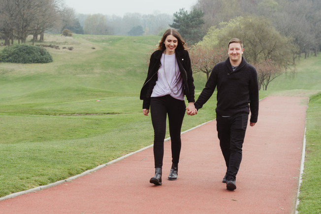 Harborne Golf Course Birmingham, Engagement Photographer Birmingham