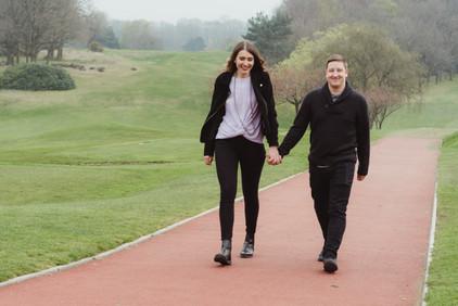 Harborne Golf Course Birmingham, Engagement Photographer Birmingham