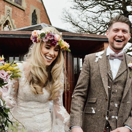 Wootton Park Wedding Photographer- Boho Wedding Theme - Beth & James