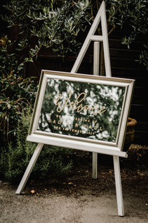 Hampton Manor Wedding Photographer Solihull, The Welcome sign for the ceremony