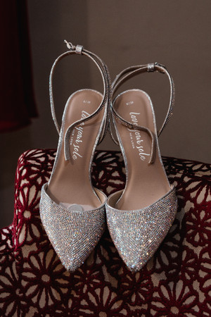 Wedding Photographer Solihull, the brides wedding shoes at The Westmead Hotel Birmingham