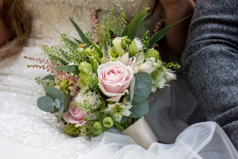 Hampton Manor Wedding Photography Solihull, close up image of the wedding bouquet