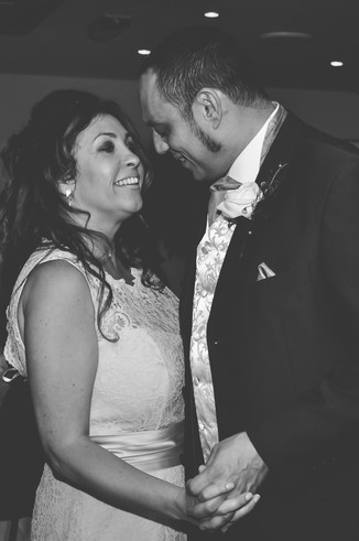 Fun photographer Solihull, bride & groom dancing at their wedding at The Limes Solihull