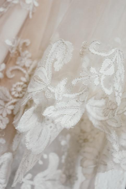 Birmingham Wedding Photographer, the brides wedding dress close up detail shot, Wootton Park Wedding Photographer Warwickshire