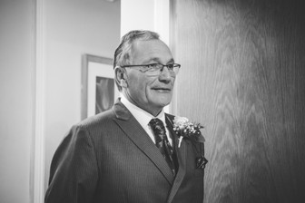 Wedding photographer Birmingham, the father of the bride when he sees his daughter in her wedding dress for the first time at the Westmead hotel Birmingham