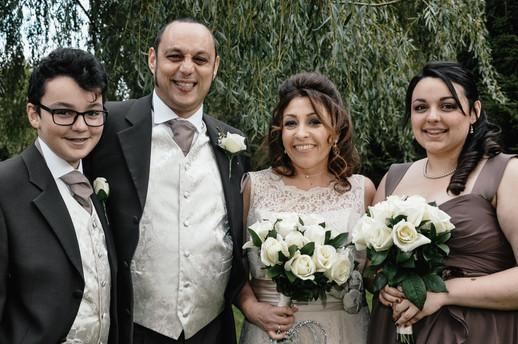 The Limes Wedding Photographer Solihull, Wedding Photographer Birmingham, fun group  shot at a wedding