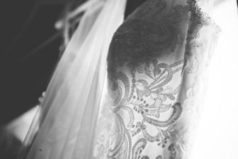 Wedding Photographer Birmingham, detail of the brides wedding dress at The Westmead Hotel Birmingham