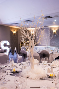 Birmingham Wedding Photographer, table decorations at the Westmead hotel Redditch