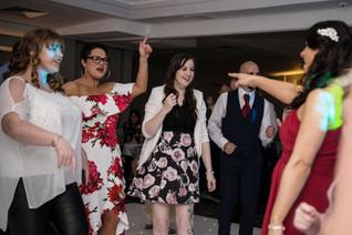 Wedding Photography Birmingham, guests dancing, fun happy wedding photographs at Westmead hotel, Birmingham