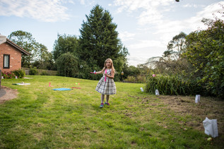 Solihull wedding photography, garden wedding, children playing at elephant & castle Warwickshire