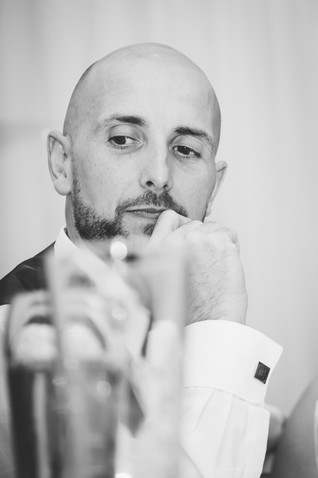 Wedding Photographer Birmingham, the wedding speeches at Westmead hotel Redditch, close up image of the groom