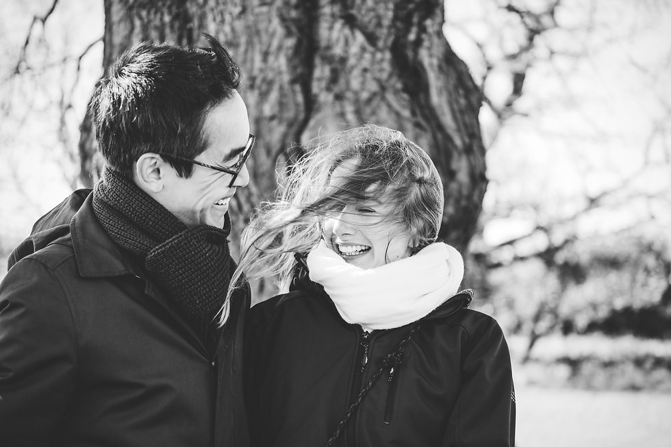 Engagement Photographer Birmingham, natural engagement photograph of the couple in black & white
