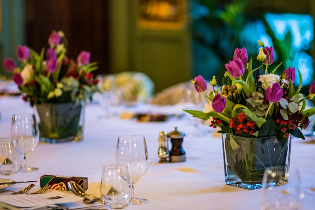 The Ivy Birmingham, Civil Wedding Wedding Photographer Birmingham, the flower arrangements for a wedding celebration