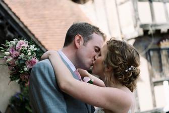 Photographer wedding Birmingham, bride & grooms portraits at the lord leycester hospital wedding venue Warwick